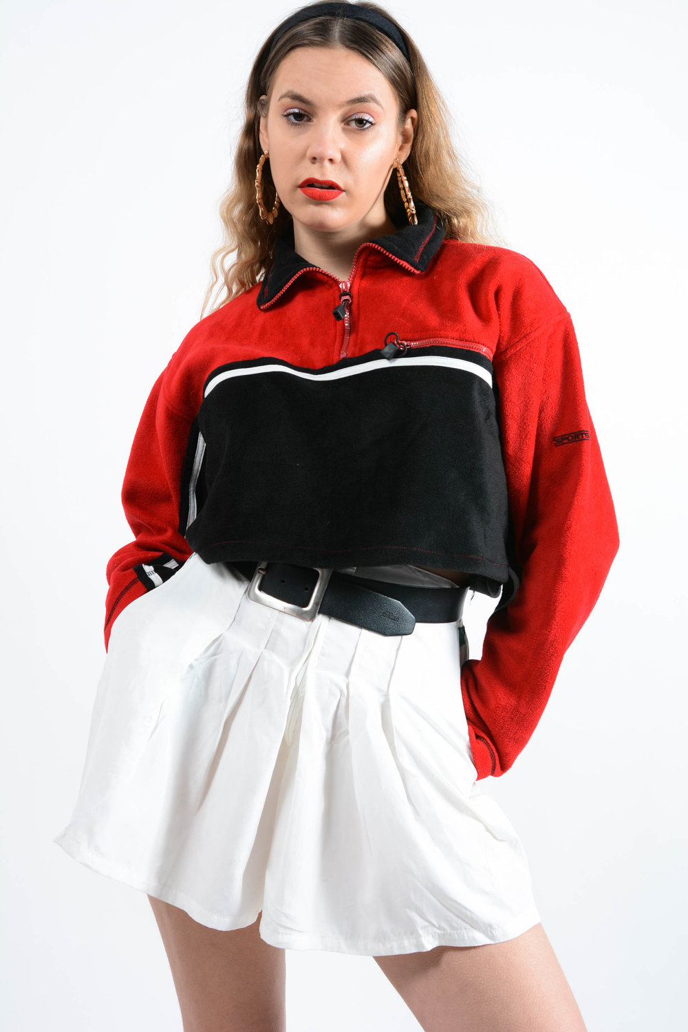 vintage fleece tops online