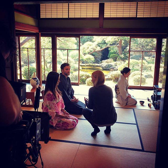 Having tea at Sensai Yoshida's beautiful place. 🎬⛩. #filmproduction #nordicproduction #setlife #filminginjapan