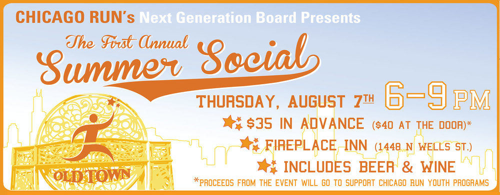 2014 Chicago Run Summer Social Fundraiser