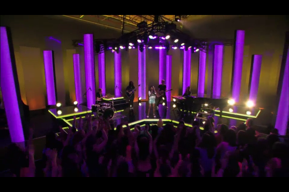 Playing for the Final 6 contestants on YTV's show The Next Star