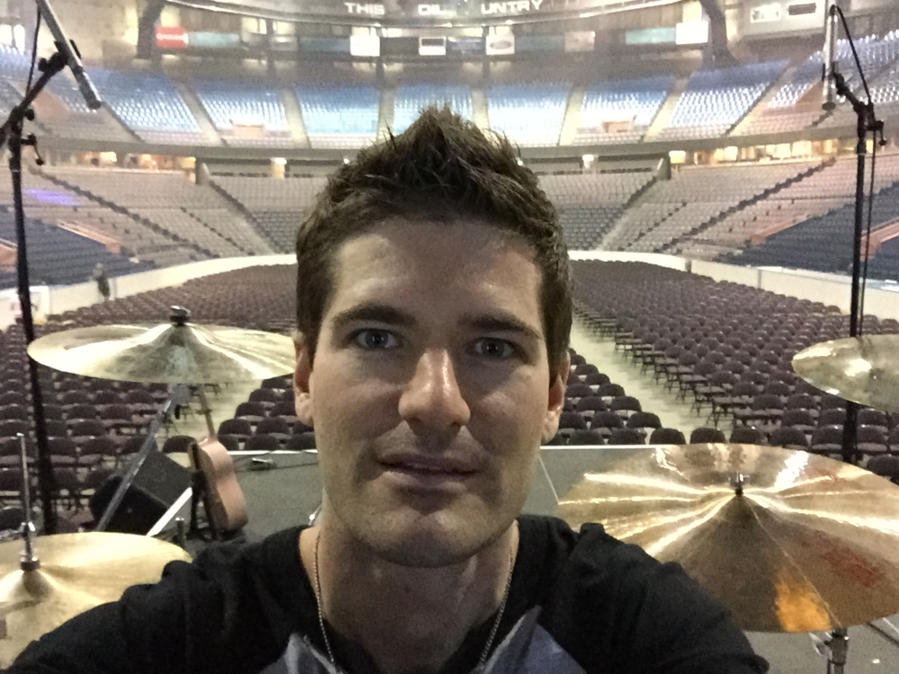 Soundcheck at Rexall Place in Edmonton opening for Keith Urban