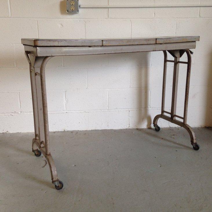 Vintage Industrial Adjustable Height Table