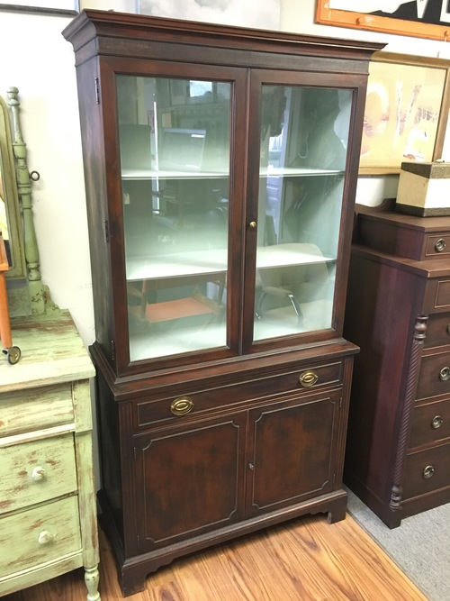 Small Antique China Cabinet - Small Antique China Cabinet — Vintage Store - LOVE Furniture And