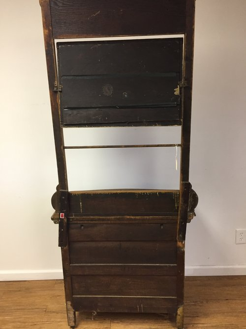 Antique Oak Washstand Cabinet With Mirror Vintage Store Love