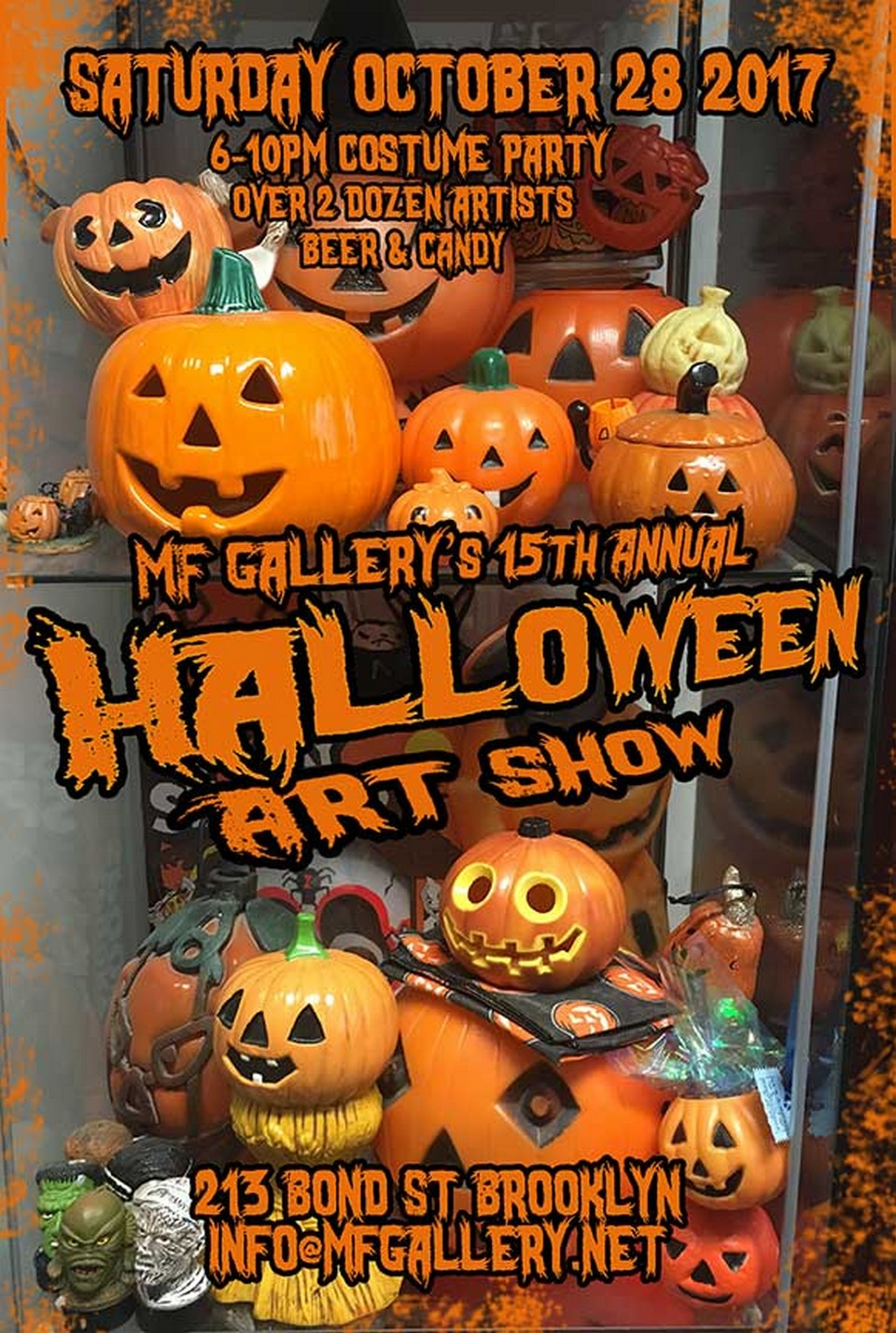 I participate to the annual Halloween show at MF Gallery with some prints and handmade jewelry. www.mfgallery.net