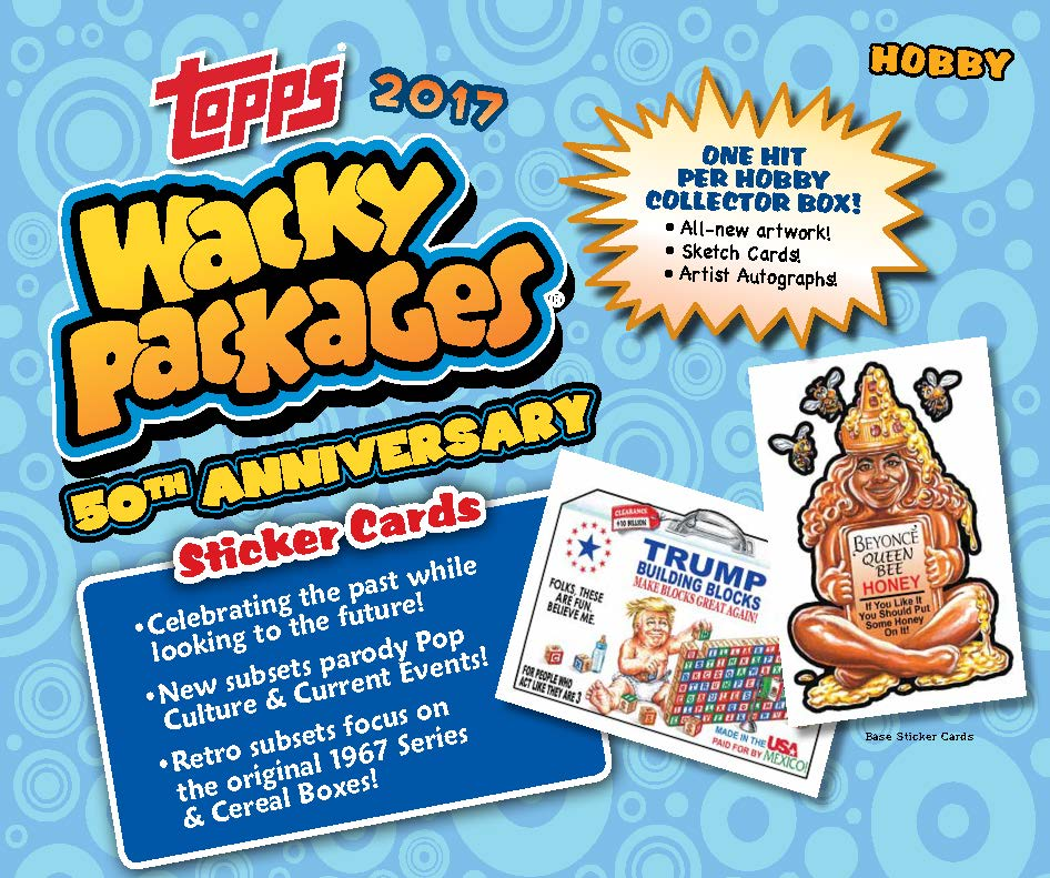 The Wacky Packages 50th Anniversary sticker cards series by Topps is out now. As usual, I am one of the sketch artists. You can find original pieces of art in the packets, collect them all! www.topps.com