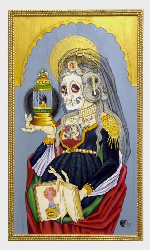 """""""Sant'Anna"""", Acrylic on wood, 2011"""