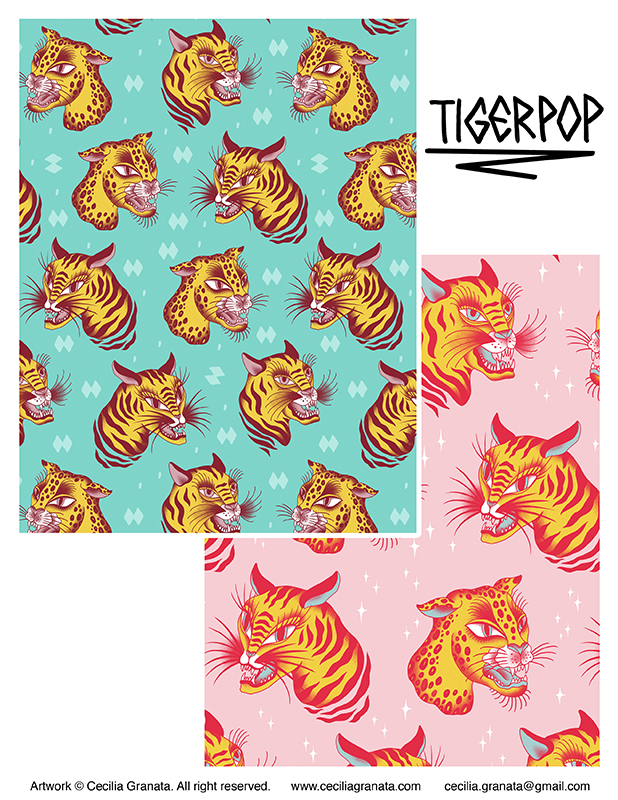 Tigerpop, repeat patterns