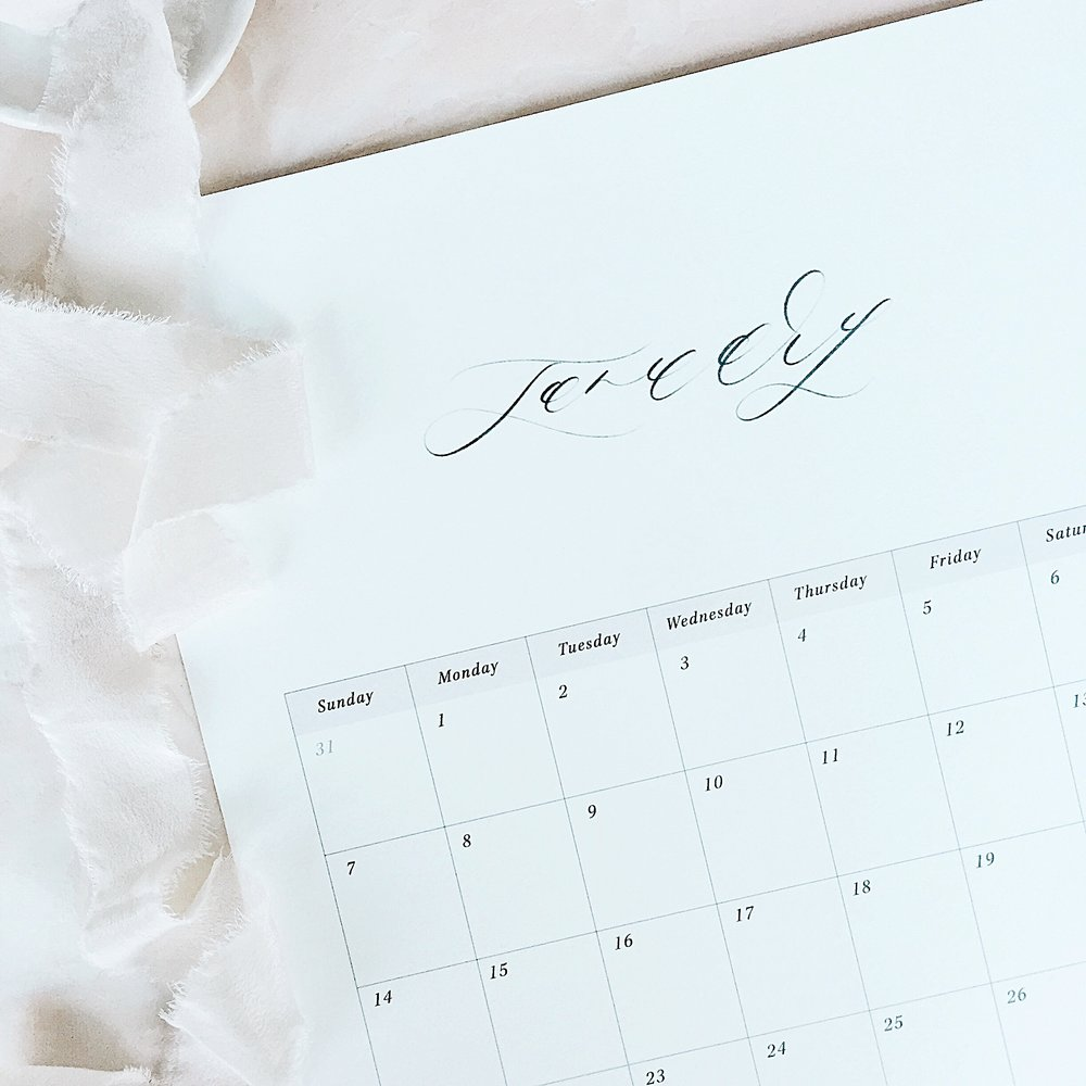 Locust House Fine Stationery January 2018 Printable Calendar