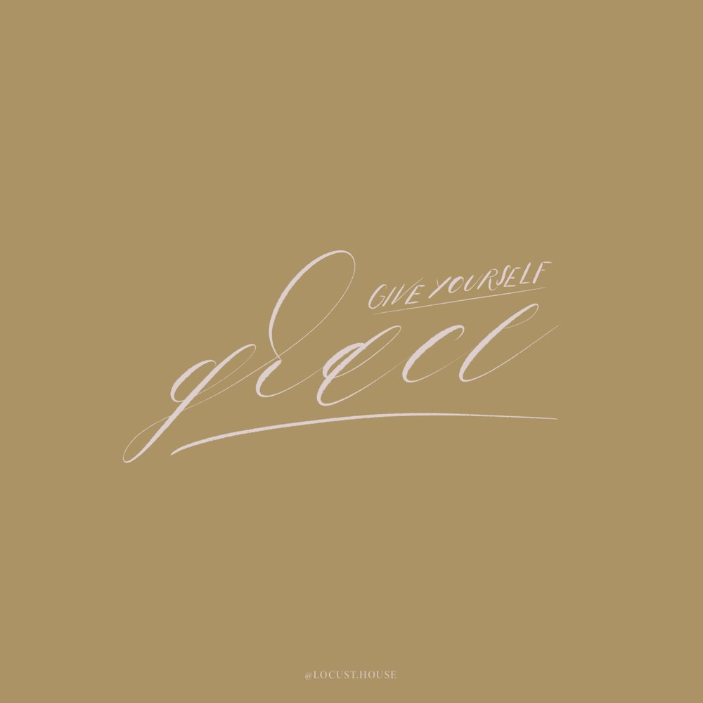 Give Yourself Grace calligraphy by Locust House Fine Stationery