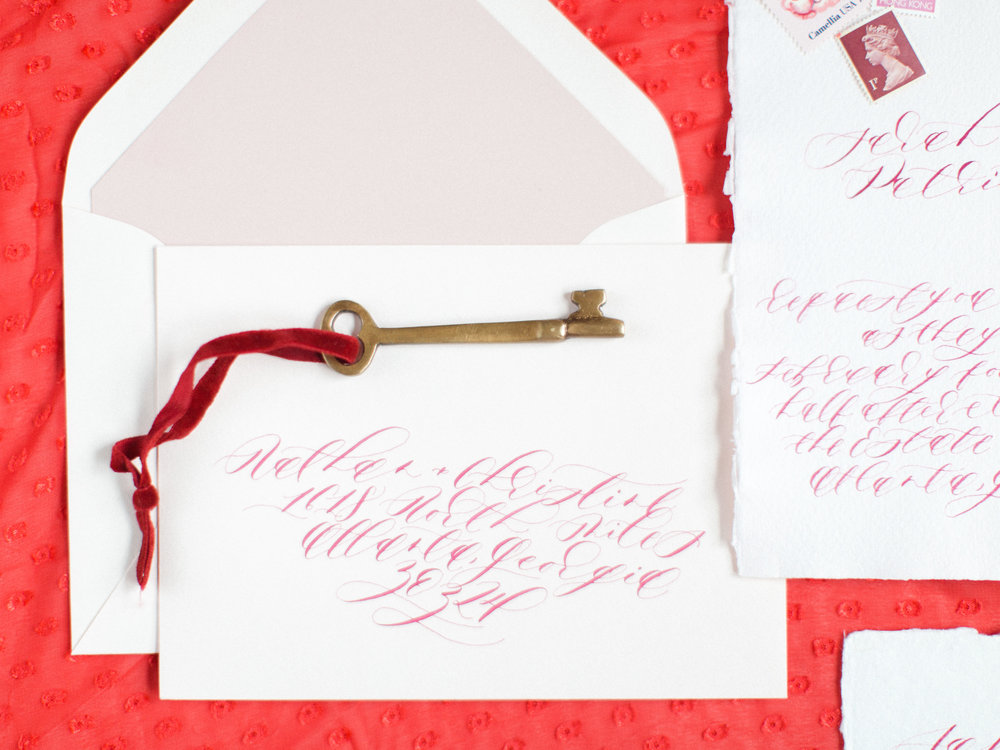 Romantic wedding invitation by Locust House Fine Stationery