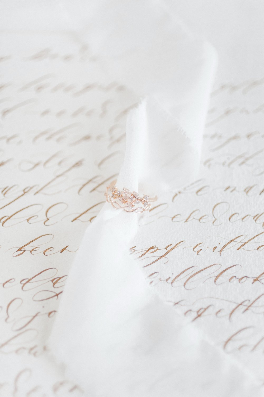 Calligraphy Love Letter by Locust House Fine Stationery