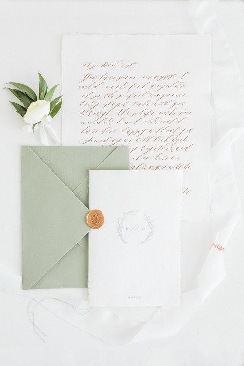 Locust House Organic Minimal Inspired Wedding Invitation Suite