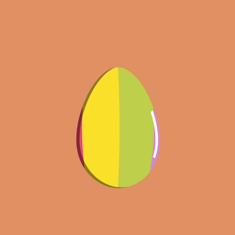 Easter Egg Design - Rainbow