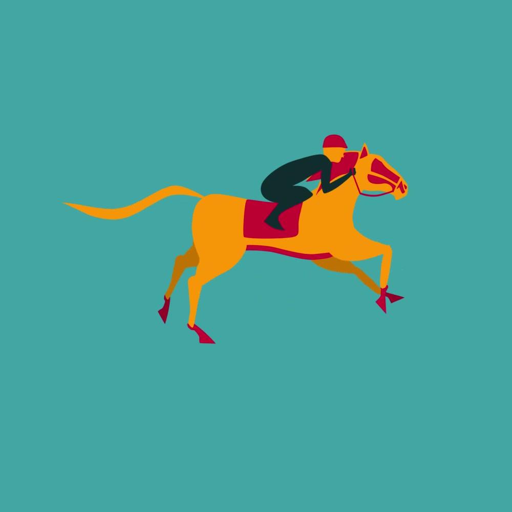 Horse Race - blue rise