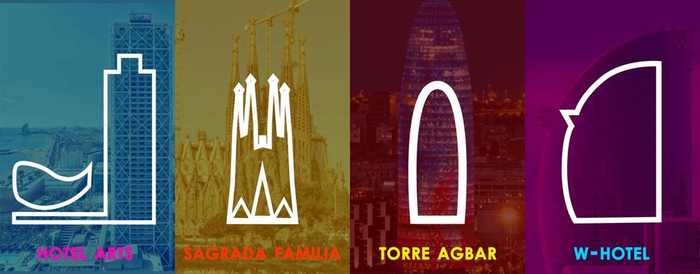 Barcelona City Free Icons