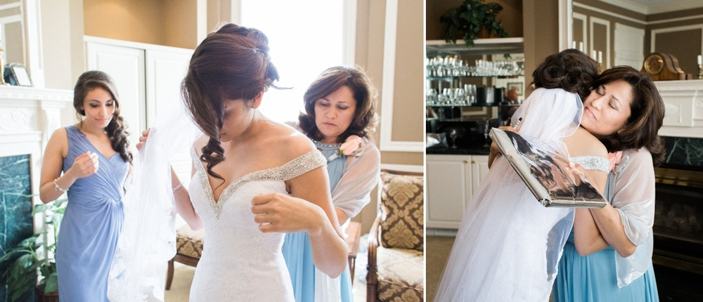 (Michelle and Edgar's Wedding) - Michelle had such a relaxed schedule. I truly felt her and her husband Edgar had the opportunity to ENJOY their moments. That's what a weddings all about :). I love the photo on the right after she had given her mother, Gladys, a gift.