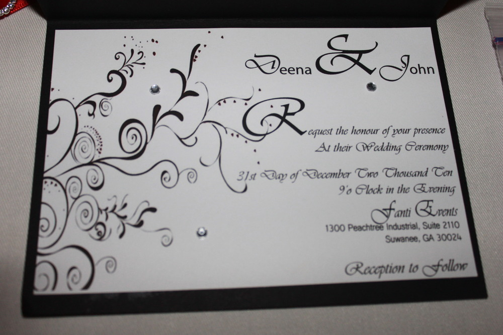 Wedding Invitation Interior