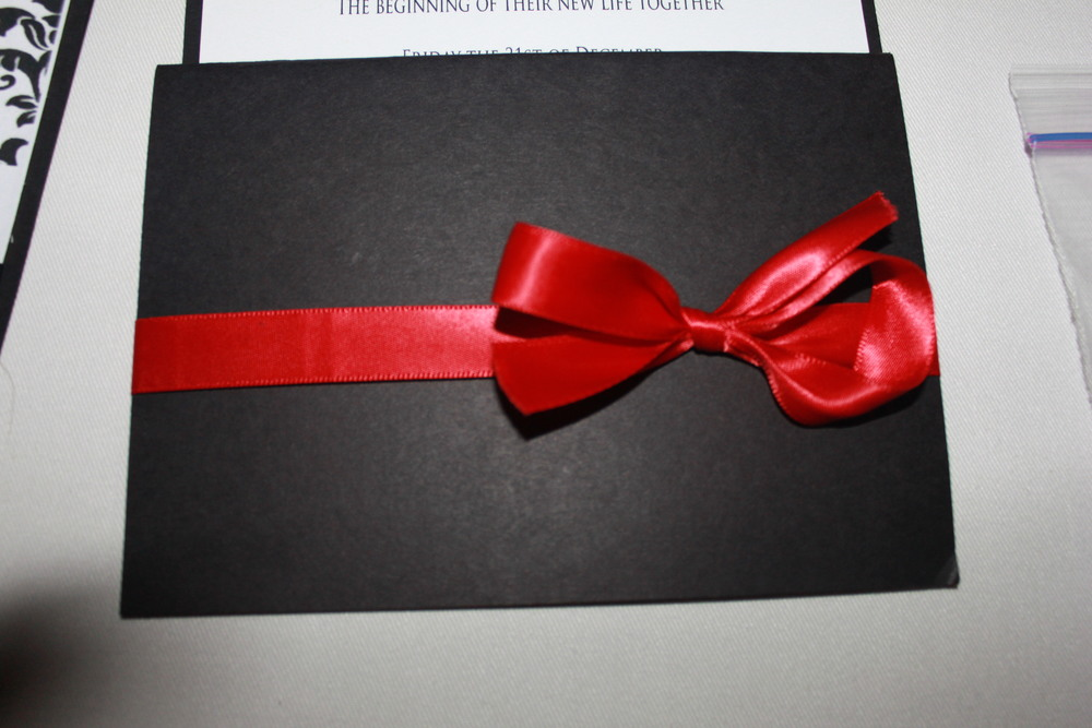 Wedding Invitation Back