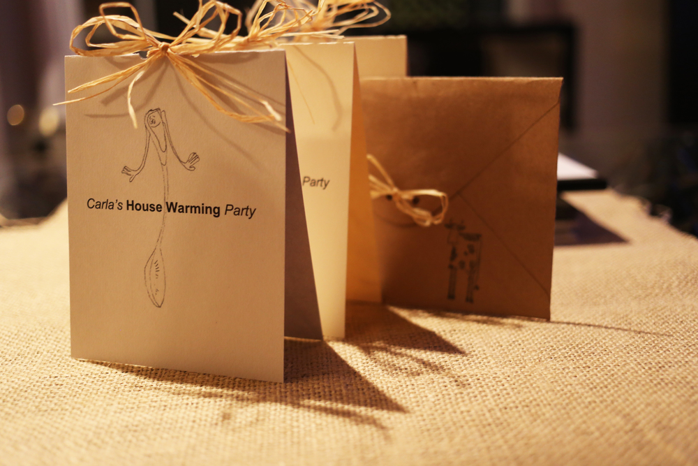 House Warming Invitation + Envelope