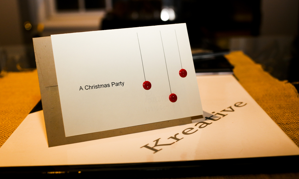 Holiday Party Invitation - Fold