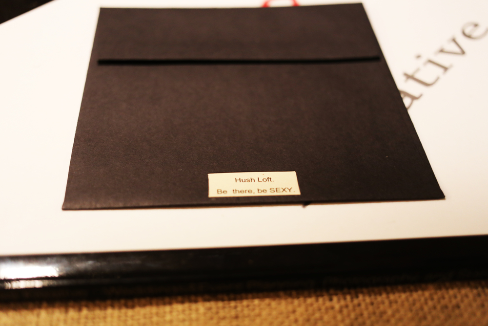 Theme Holiday Party - Open Face Black Envelope - Back