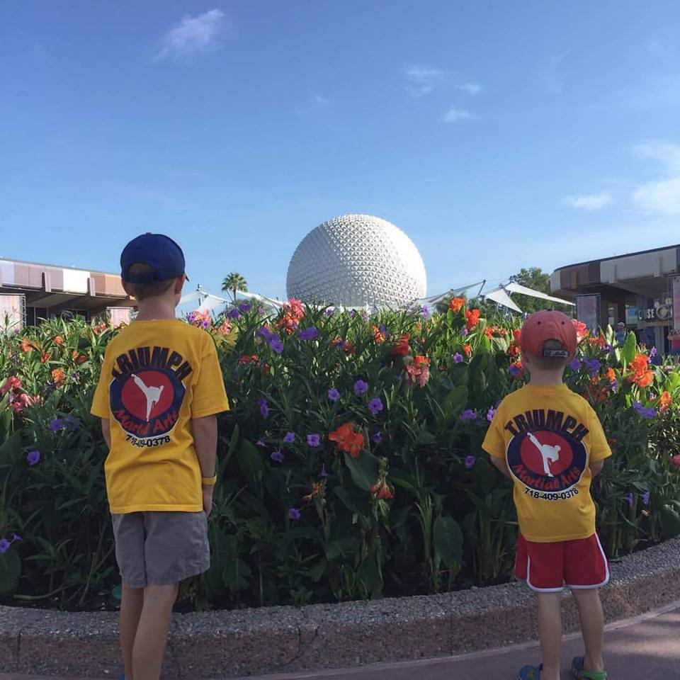 Thomas and Matthew representing Triumph at Disney!