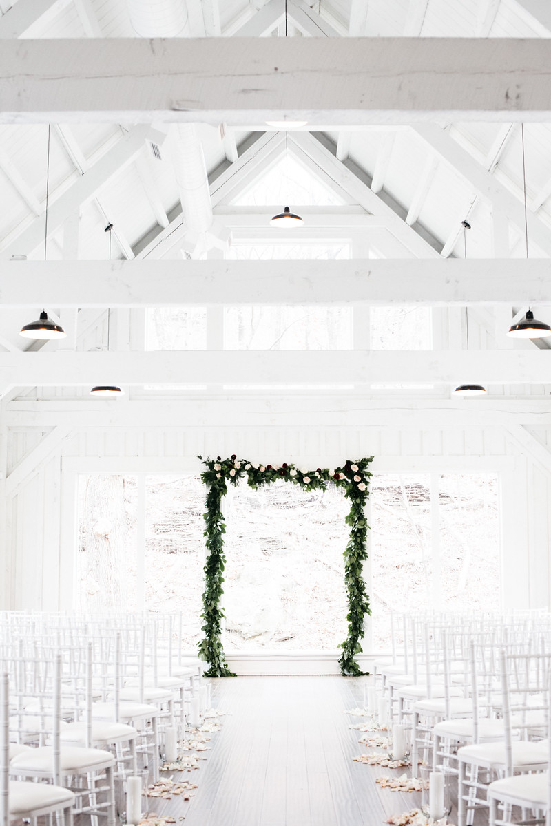 winter white barn wedding - owl and anchor photography