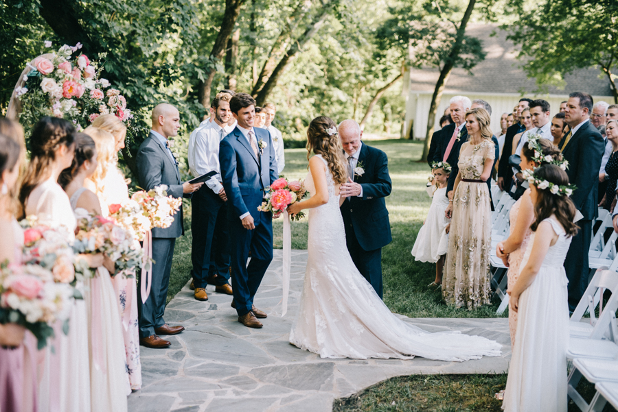 White Barn Courtyard Ceremony