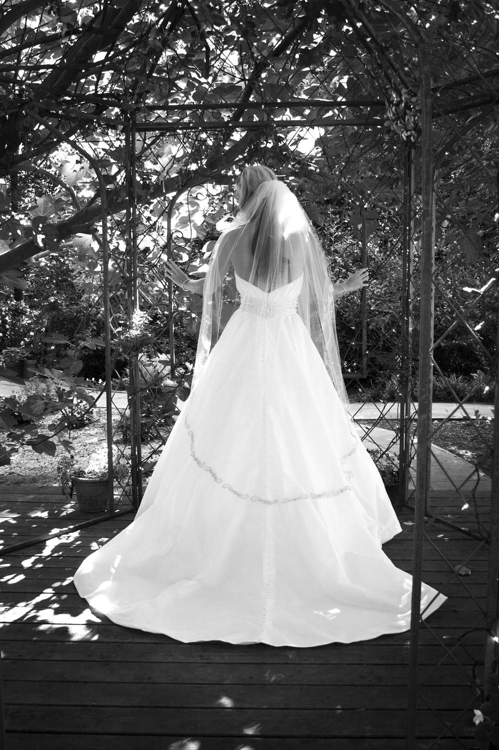 Bridal portrait in Black and White   Georgia Wedding