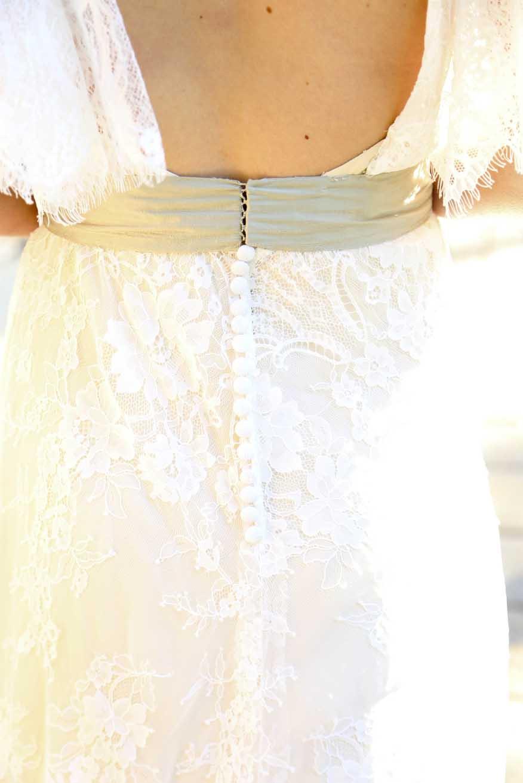 Vintage Wedding Dress Detail   Graduate Hotel   Athens Georgia