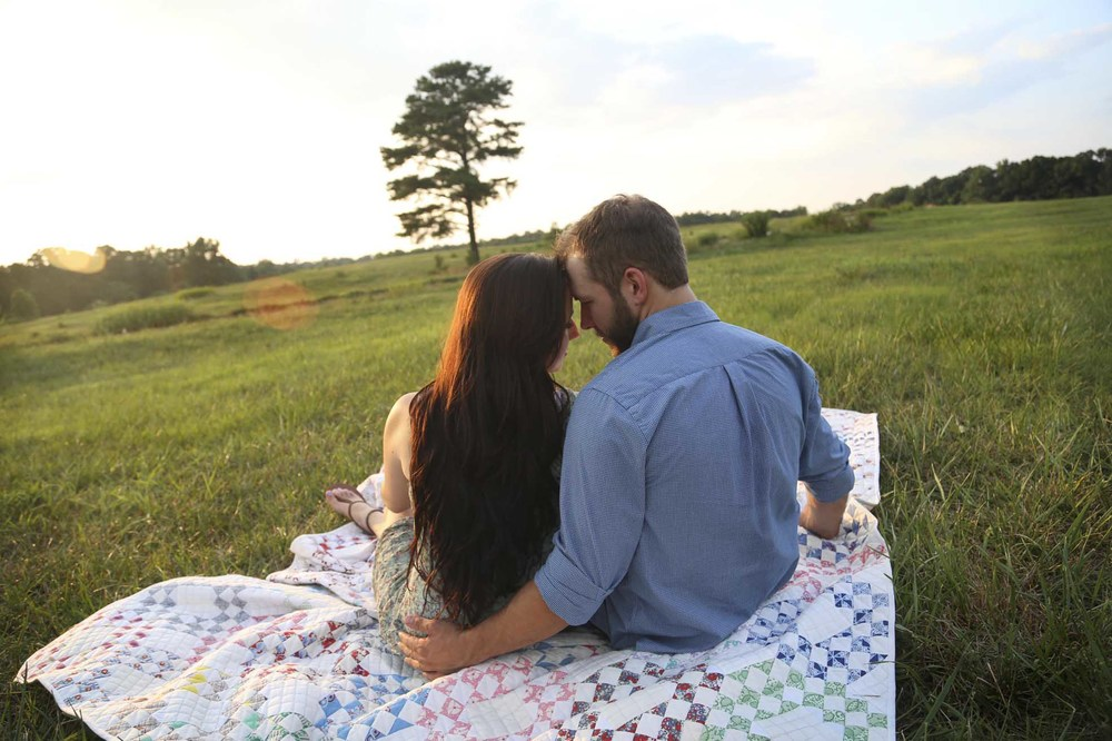 Outdoor Engagement Session in Field | Athens Georgia
