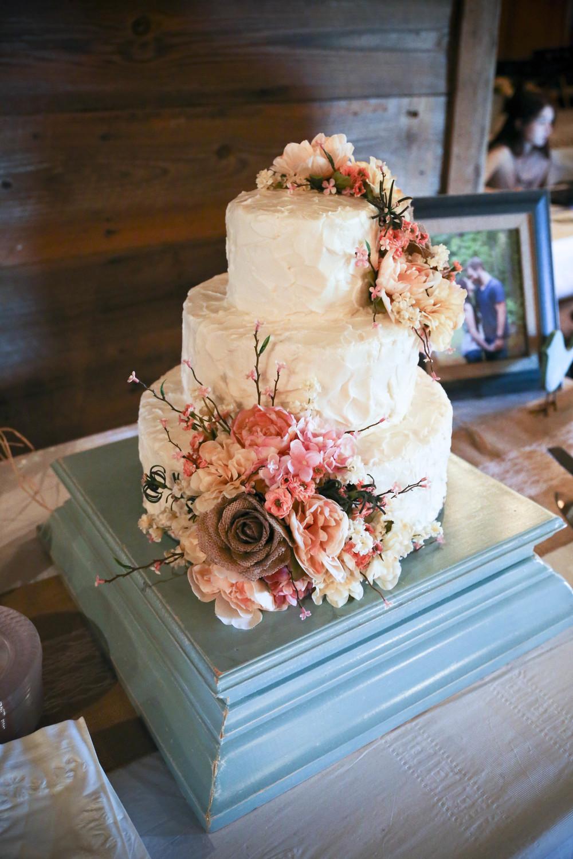 Country Rustic Wedding Cake   Barn Wedding Reception   Morgan County Georgia