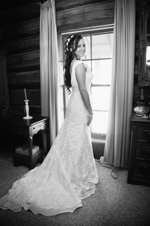 Bridal Wedding Portrait   Black and White   Morgan County Georgia