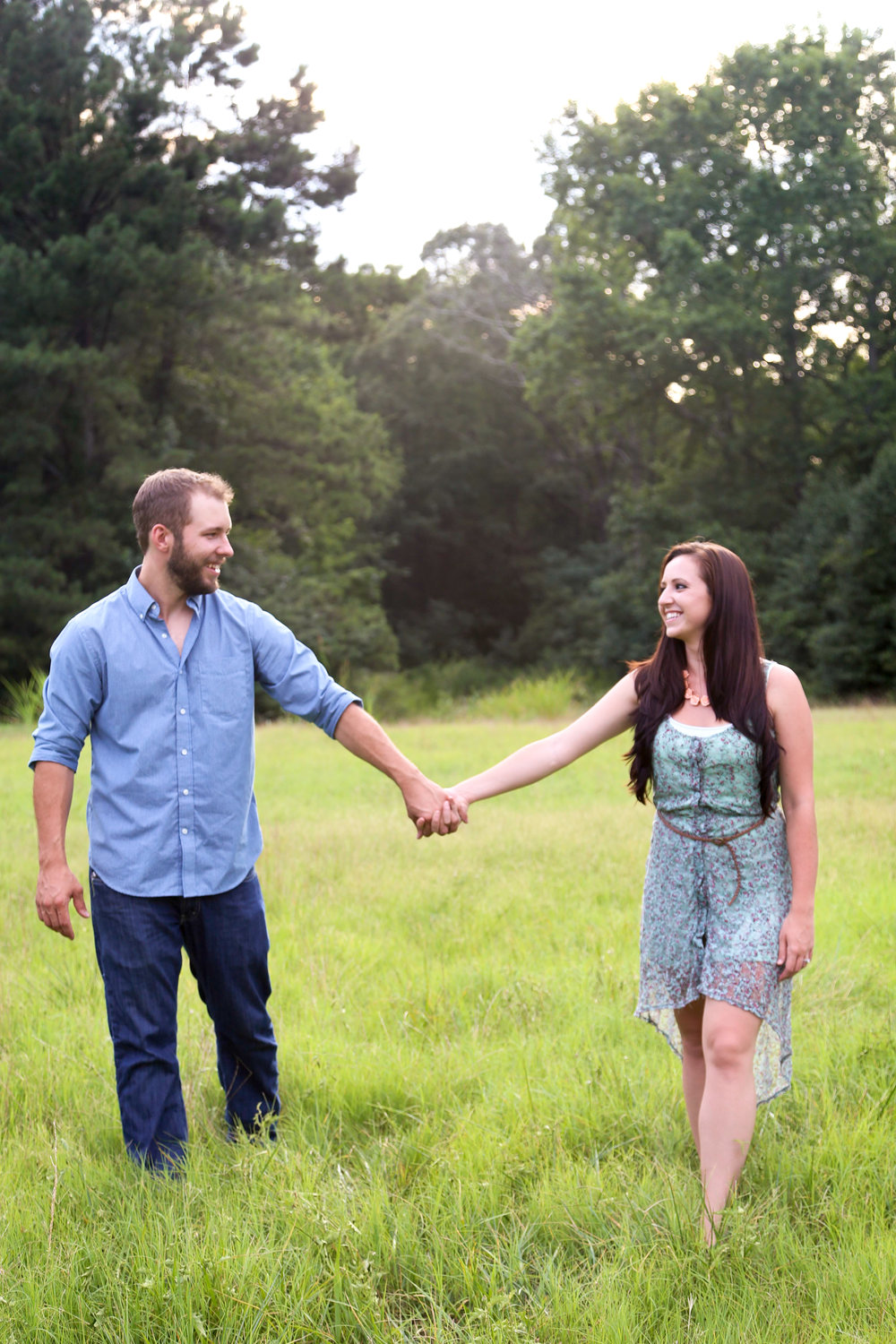 Outdoor Country Engagement Session | Athens Georgia