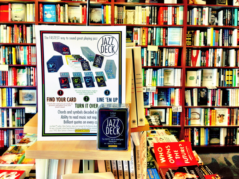 JazzDeck retail display in Books Inc., Burlingame, California