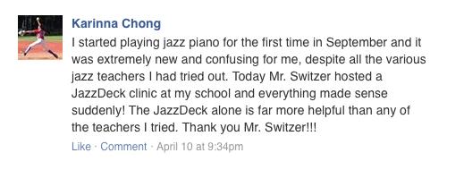 JazzDeck testimonial