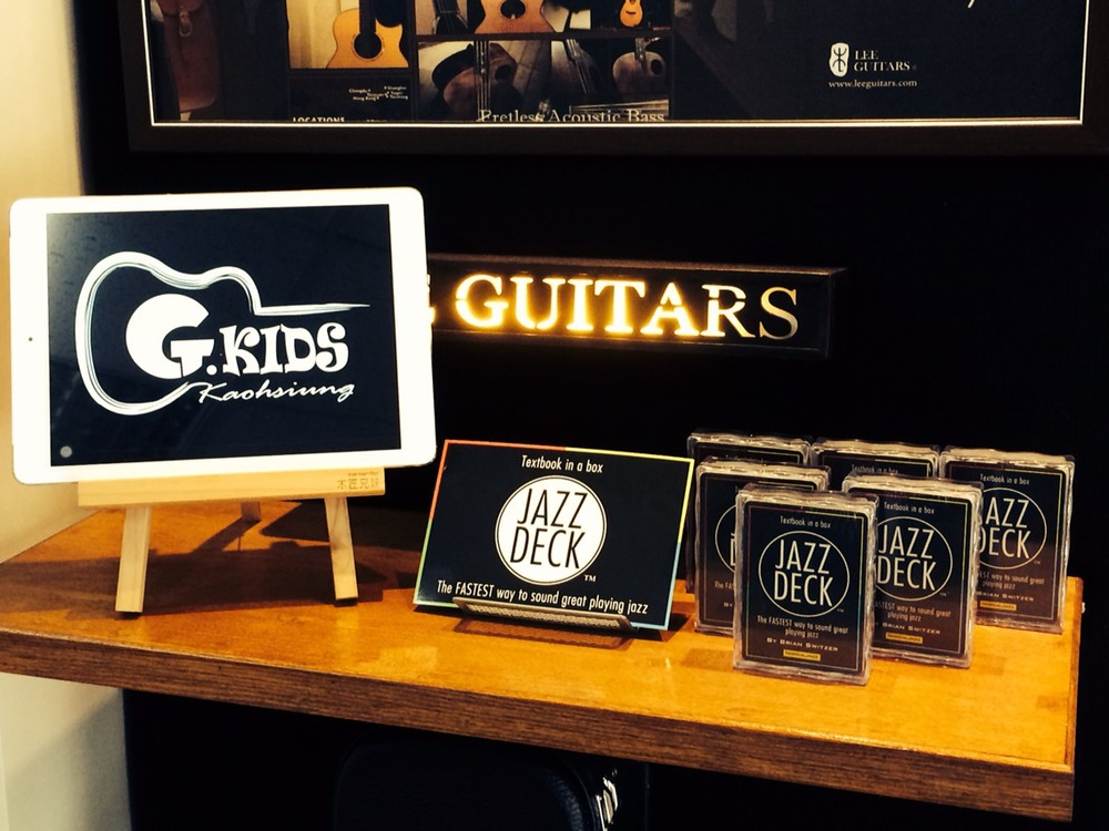 JazzDeck retail display in Guitar Kids, Taiwan