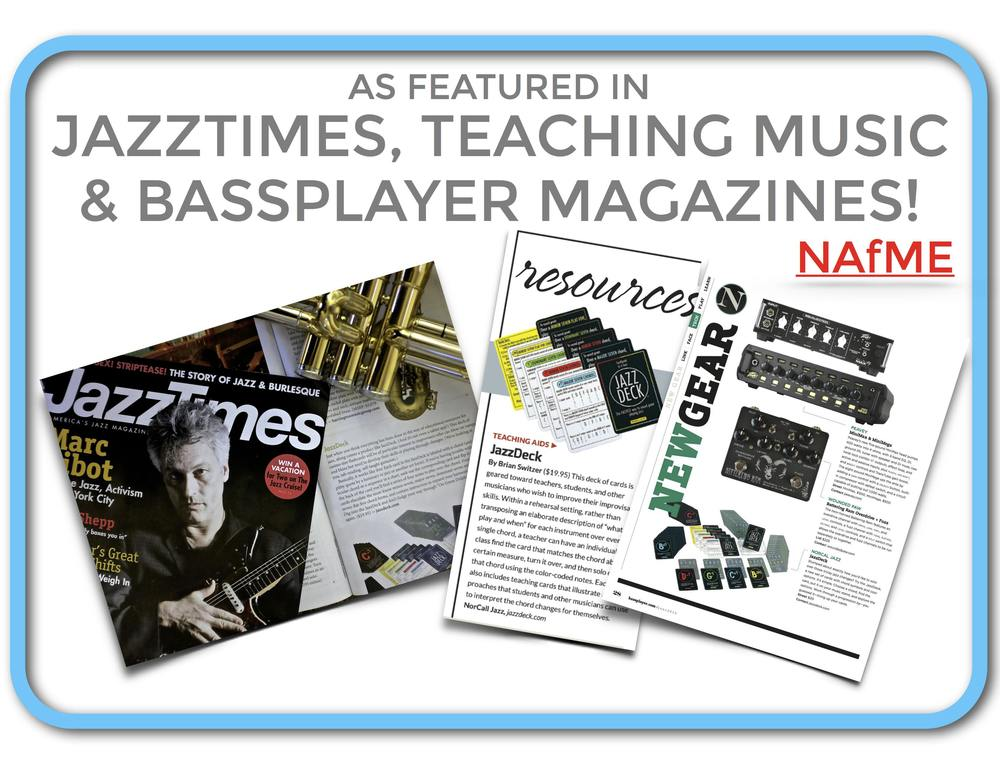 JazzTimes, Teaching Music and BassPlayer Magazines Feature JazzDeck as a Jazz Improvisation Tool!