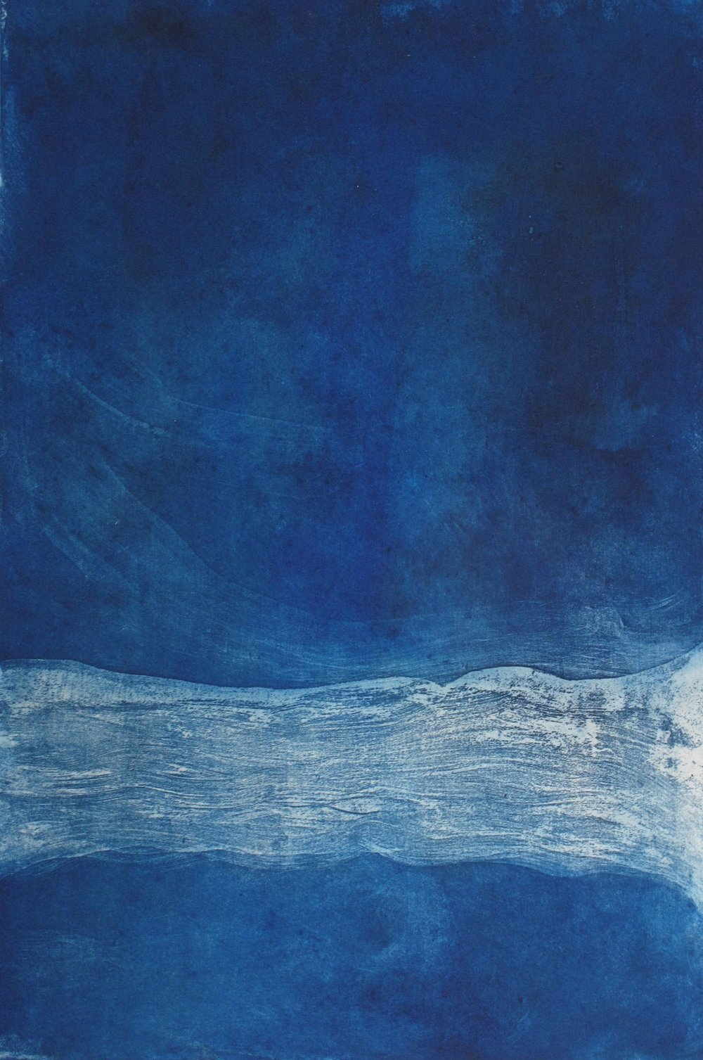 Blue Suite III  Etching by Gina McDonald
