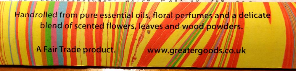 Wonderful hand made fairtrade incense