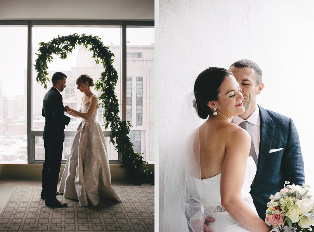 Intimate and happy moment between couples at Four Seasons and The Briars.