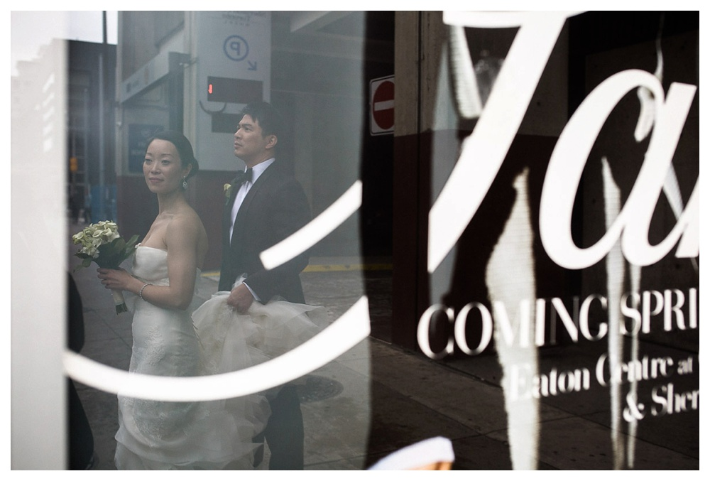 wedding, Toronto, Sheraton Hotel, Arcadian Court, bride and groom, flowers, Vera Wang, Tom Ford, bouquet.
