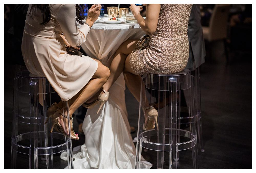 wedding, Arcadian Court, reception, classic, urban, intimate, guests, wedding guests, wedding party, high heels, fashion, dresses, dessert