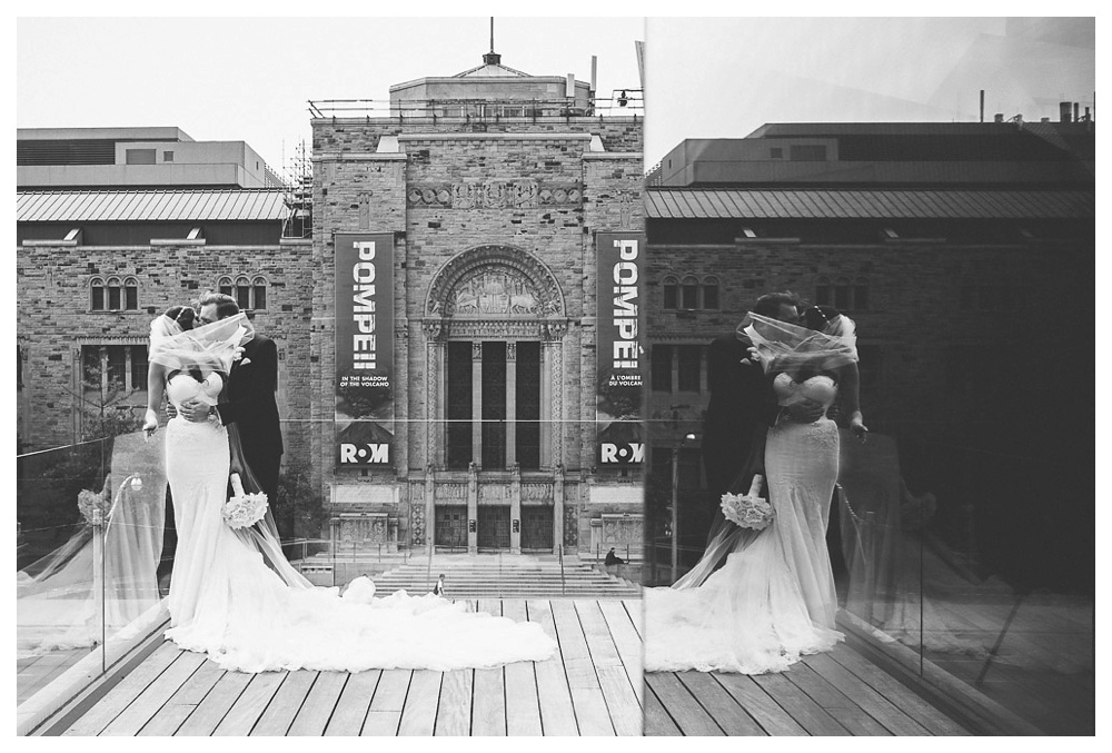 White Toronto, luxe, wedding, black and white,wedding dress, Gardiner Museum, 99 Sudbury, Ashley Lindzon, Danijela Weddings, Inbal Dror, Royal Ontario Musuem, bride and groom, kiss, love, wedding day,