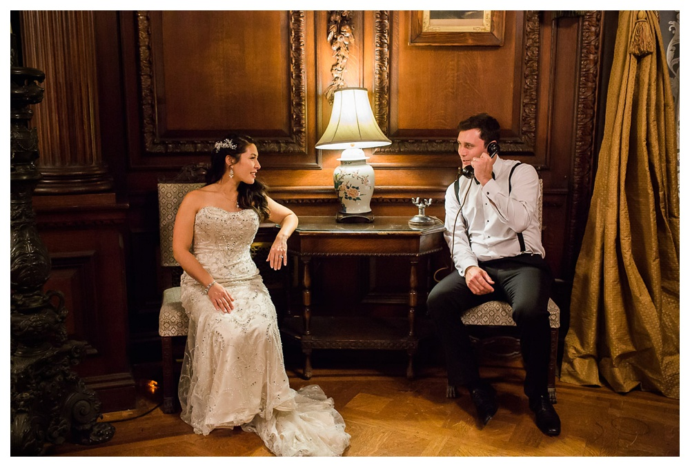 77-DanijelaWeddings-wedding-Toronto-CasaLoma-KateMackenzie-couple-victorian-phonecall.JPG