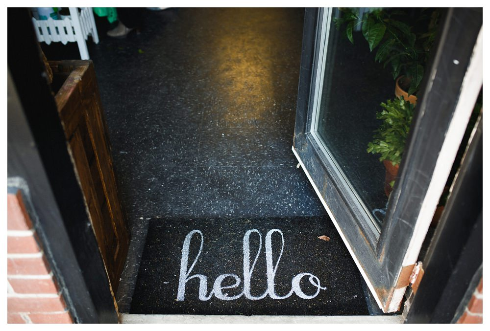 Hello doormat at Blush and Bloom in Toronto.