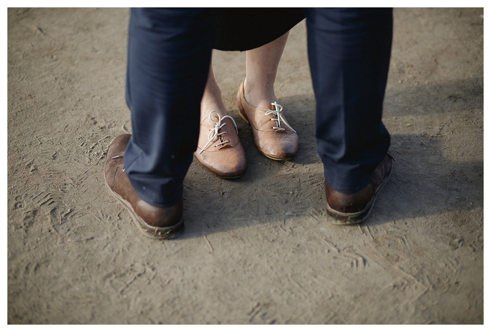 Shared taste in loafers will help the bride and groom walk the shared path of marriage.