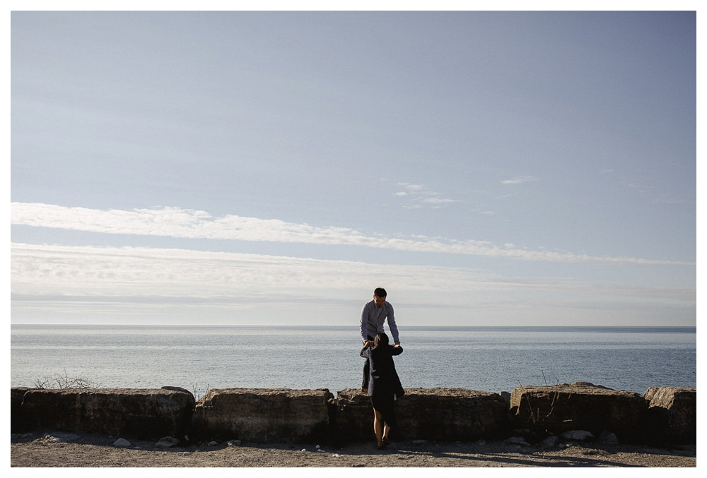 I will help you up in life, marriage and to see the beautiful view ahead of us by lake Ontario and Scarborough Bluffs.