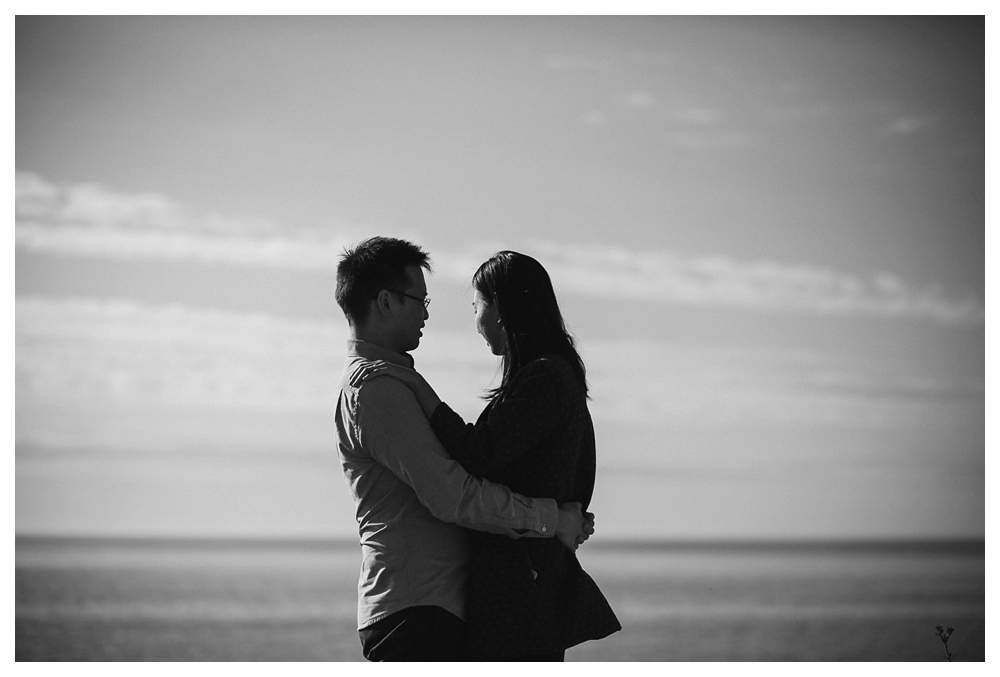The engagement shoot which will stay in memory like a black and white photo.